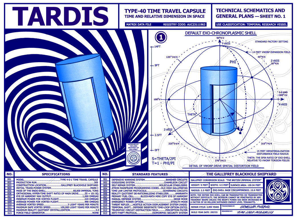 TARDIS Technical Schematics Page 1 (chki Style) by Time-Lord ...