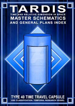 TARDIS Master Schematics Book Cover A FINAL