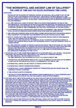 TARDIS Master Schematics Index Page II
