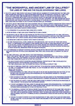 TARDIS Master Schematics Index Page III