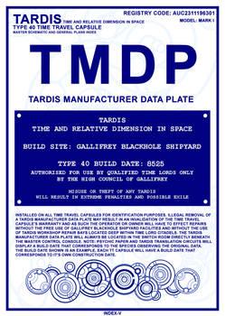 TARDIS Master Schematics Index Page V