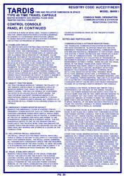 TARDIS Master Schematics Page 20