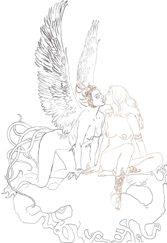 Sketch - Flights of Fancy by Mayeaux