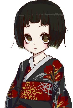 Kimono Girl by moenai-gomi-ningen