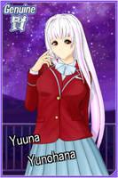 AA2 Yuuna Yunohana card - Yuragi-sou no Yuuna-san