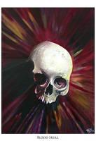 Blood skull by TodoArtist