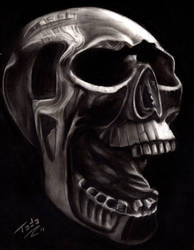 Charcoal skull by TodoArtist