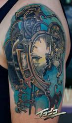 Freitas steampunk clock tattoo by Todo by TodoArtist