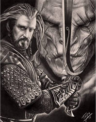 Thorin and Azog
