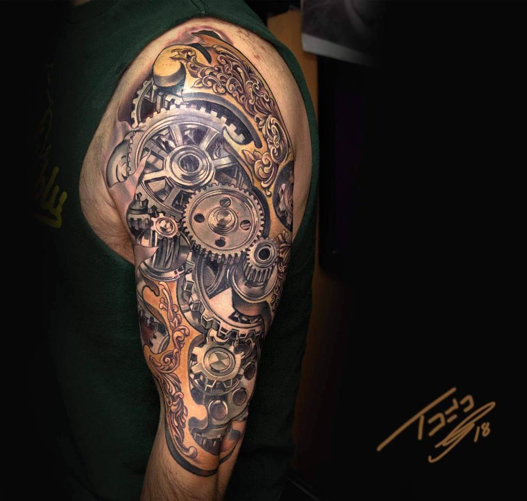 Steampunk Gear Tattoo By Todoartist On Deviantart