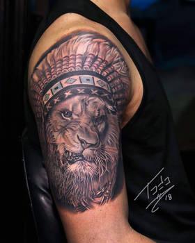 lion with a headdress
