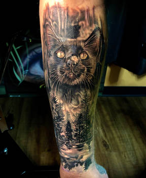 Black cat by Todo ABT Tattoo