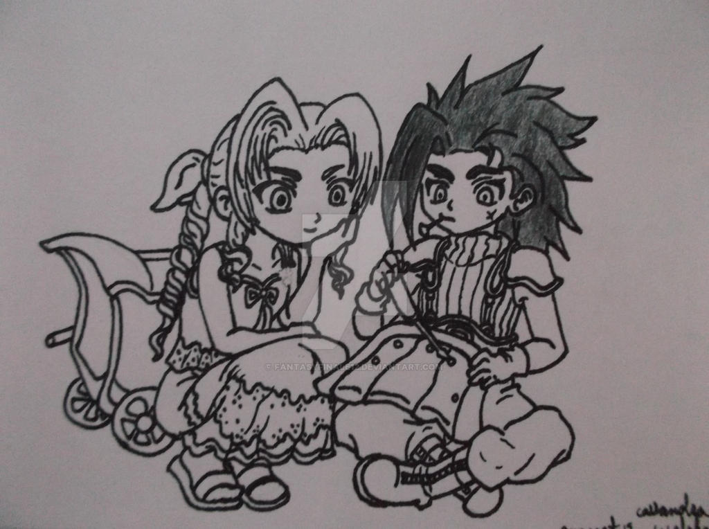 Zack and Aerith by FantasyFinale12