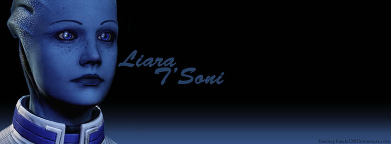 Liara Banner 1 (with text) by FantasyFinale12