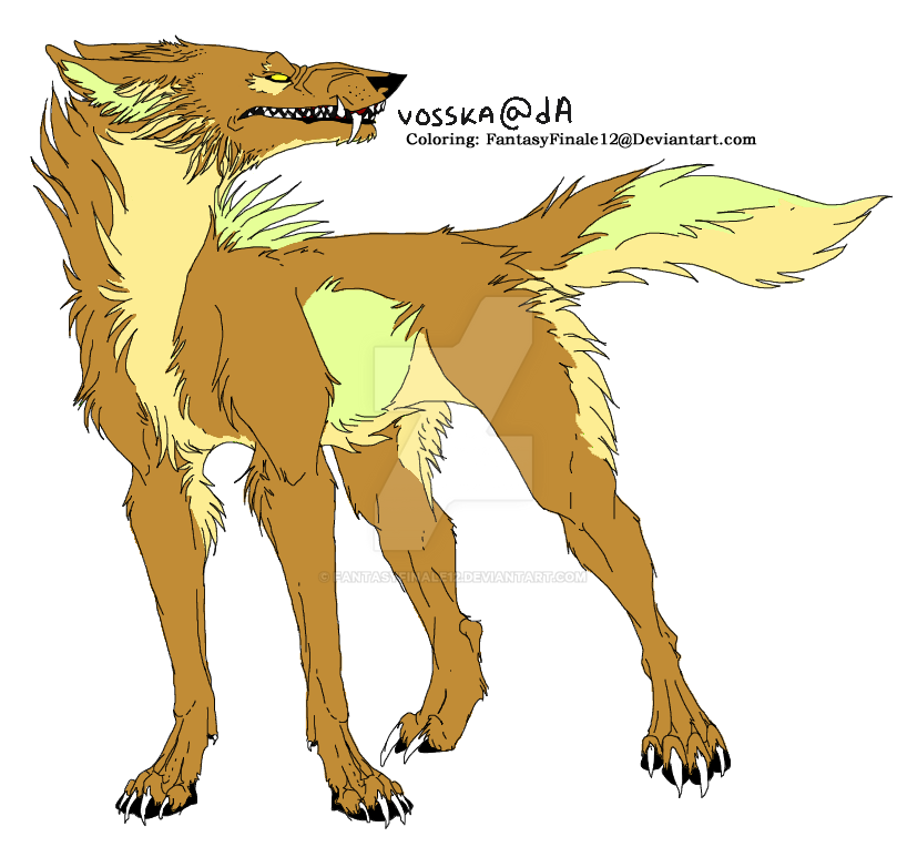 Wolf Lineart Coloring (Plyth) by FantasyFinale12