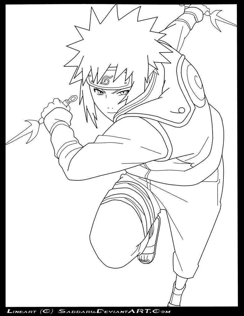 Naruto Lineart : Naruto minato lineart by sabbaru on deviantart