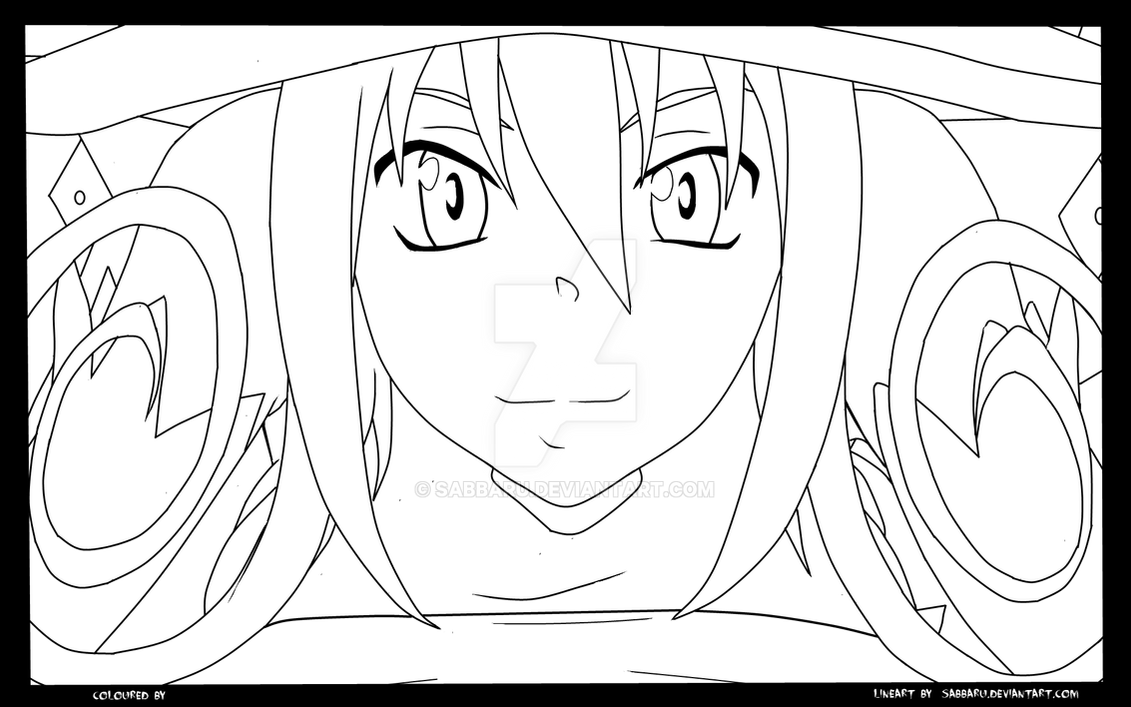 soul eater blair lineart by sabbaru on deviantart