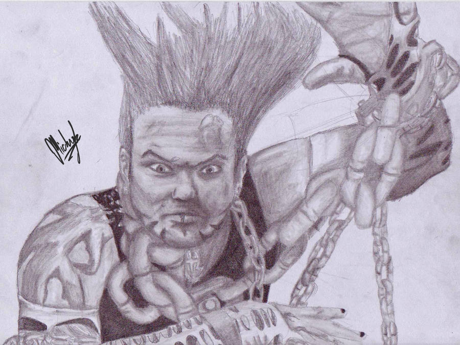 Jeff Hardy No Way Out By Micky K On Deviantart Jeff Hardy Color Drawing
