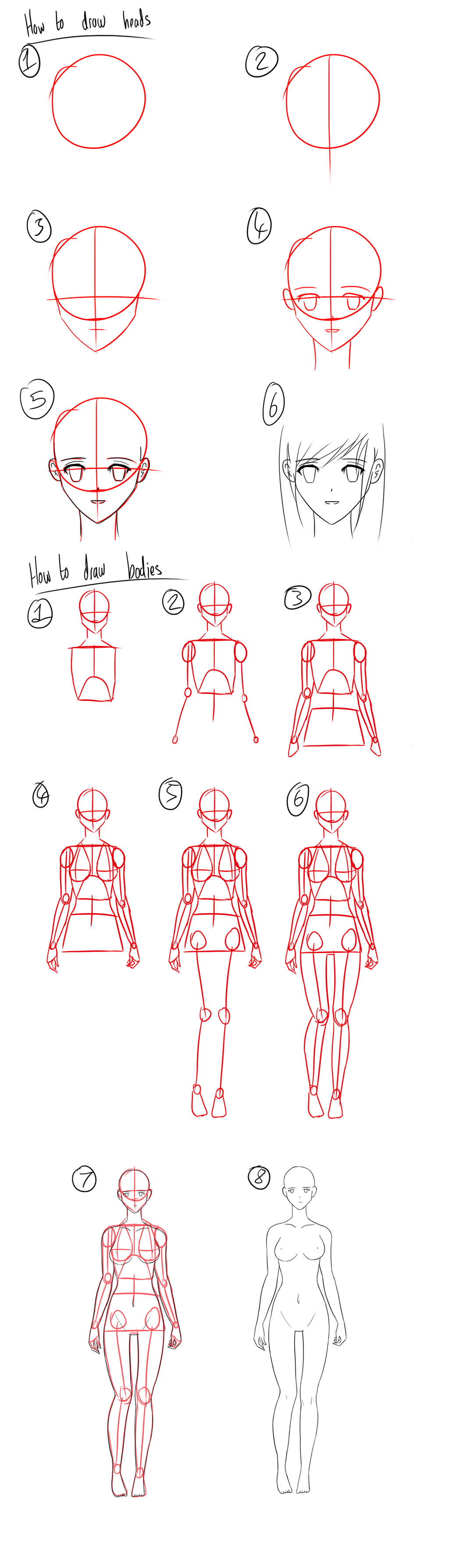 tutorial how to draw anime heads female bodies by micky k on