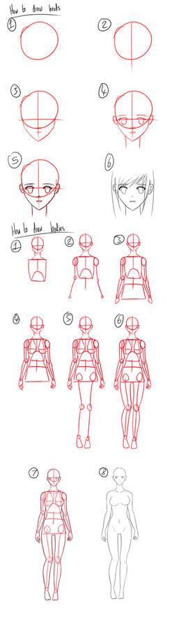 Tutorial - How to Draw Anime Heads/Female Bodies