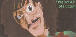 'Weird Al' Yankovic painting for WeirdAlStar.com
