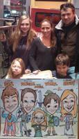 Super Family caricature Nov 2014 by artbylukeski