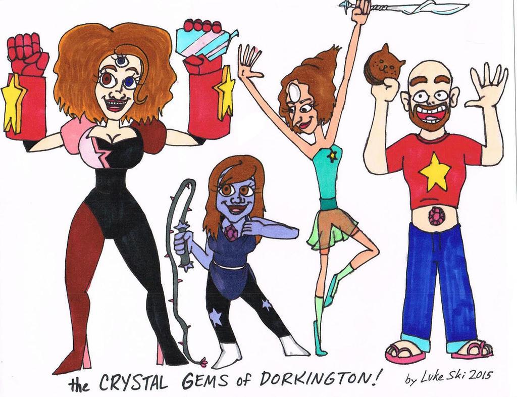 The Damsels Of Dorkington as Steven Universe cast by artbylukeski