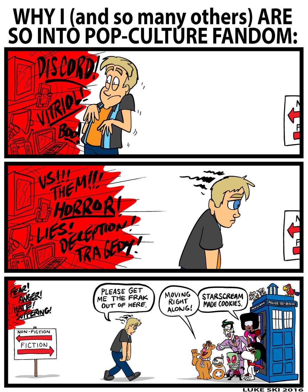 Pop Culture Fandom comic by Luke Ski by artbylukeski