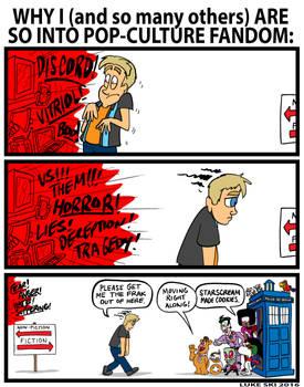 Pop Culture Fandom comic by Luke Ski