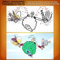 Mighty MagiSwords Storyboards - Several Lame MSs by artbylukeski