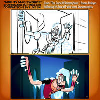 Mighty MagiSwords Storyboards - frozen Prohyas by artbylukeski