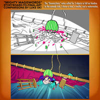 Mighty MagiSwords Storyboards - Sledge-O-Vambre by artbylukeski