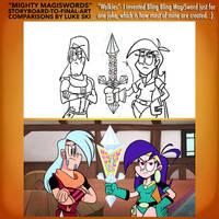 Mighty MagiSwords Storyboards - Bling Bling MS by artbylukeski