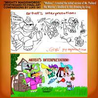 Mighty MagiSwords Storyboards - Mr Packard by artbylukeski