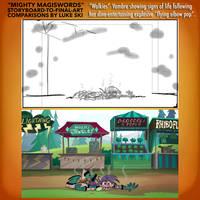 Mighty MagiSwords Storyboards - Flying Elbow Pop 2 by artbylukeski