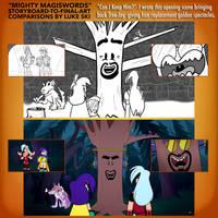 Mighty MagiSwords Storyboards - Tree-Jay returns by artbylukeski