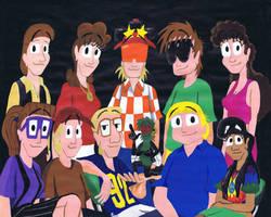 Teenage Comedian acrylic cast portrait 1994