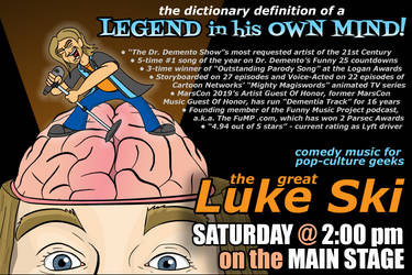 Luke Ski MarsCon 2019 flier by artbylukeski