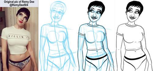 Figure Drawing 2019-11-22 Remy Dee