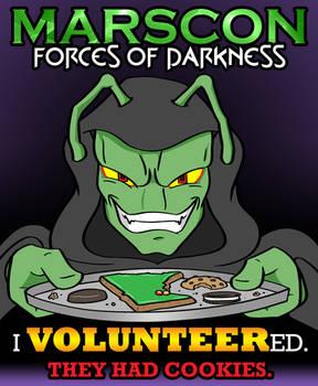 MarsCon 2021 Volunteer t-shirt