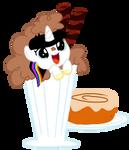 Blissy in a milkshake