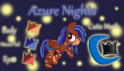 Azure Nights Reference Sheet by ForTheLuvOfApplejack