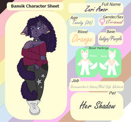 Zuri Amor Reference Sheet