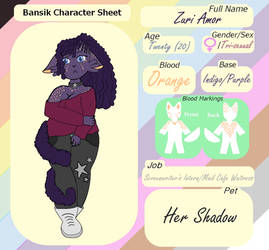 Zuri Amor Reference Sheet by ForTheLuvOfApplejack