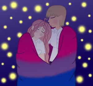 Rina and Kanjo Pride Blanket