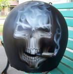 Smoking Skull Helmet