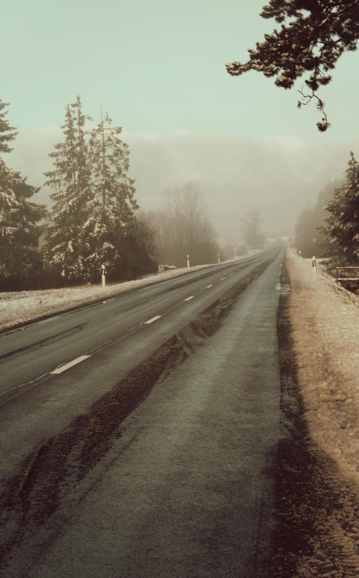 Winter road by Astrazzz
