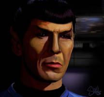 Spock Leonard Nimoy by shilohs