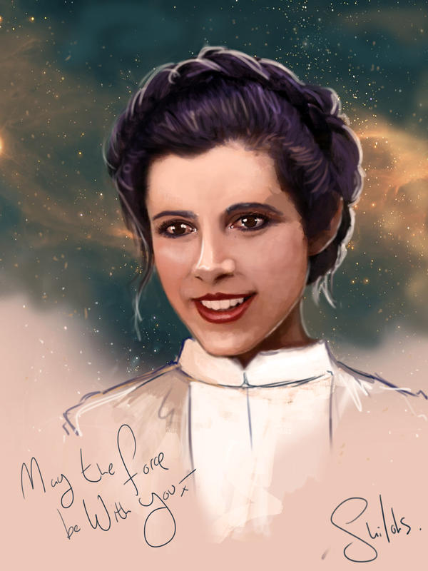 Tribute to Carrie Fisher - Princess Leia by shilohs
