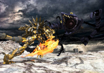 Garan Krygar VS Monster by eventorizon
